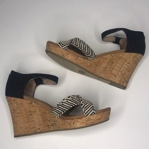 TOMS Sienna Cork Platform Wedge Sandals